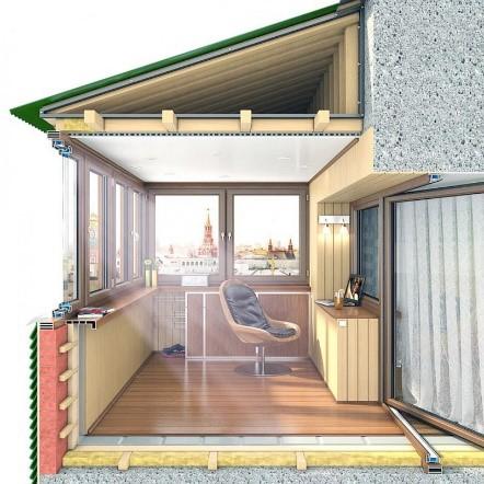 Остекление и утепление балкона под ключ
